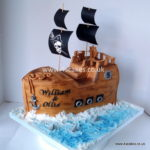 Pirate Ship cake-London Birthday cake shop