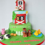Farm-theme-birthday-cake-with-sugar-figures-by-4S-Cakes-Greenwich-Bromley-cake-shop