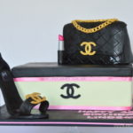 Chanel Hand bag and Shoe cake, by cake shop in bromley London