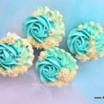 Turquoise and silver cup cakes