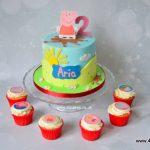 Peppa pig cake by london cake maker