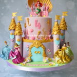 Disney Princess theme cake by Bromley Greenwich London cake makers and cake shop