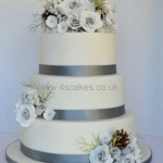 Wedding cake by 4S cakes Bromley Croydon Based Wedding Cake makers and Cake shop
