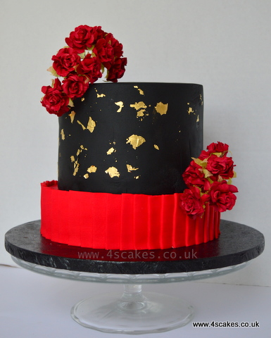 red black gold wedding cakes wedding and birthday cake makers beckenham and bromley 4s 19116