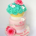 Birthday cake with sugar roses