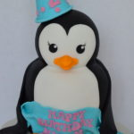 3D penguin cake by Bromley Croydon Birthday cake maker