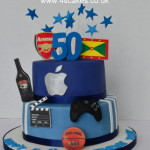 Apple Logo 50th birthday Cake by 4S Cakes Bromley, Croydon Cake Makers
