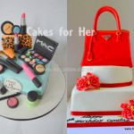 Prada bag Birthday Cake and MAC theme Bitrthday cake made by 4S Cakes Bromley Cake makers