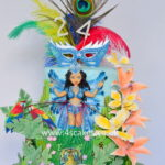 Carnival dancer in exotic Jungle cake