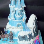 Disney Frozen theme Castle Birthday cake