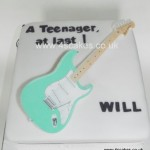 Fender Guitar Birthday cake made by 4S Cakes Beckenham Bromley Wedding Cake Makers