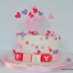 Girly Birthday cake by Beckenham Croydon cake makers