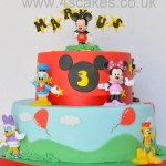 Mickey Mouse Birthday cake made by 4S Cakes Beckenham Bromley Wedding cake makers