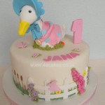 Jemima puddle duck First Birthday cake by 4s Cakes Beckenham Bromley Cake makers