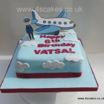 Pilot Birthday cake made by 4S Cakes Beckenham Bromley Wedding Cake Makers