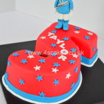 Power Rangers theme Birthday Cake by 4S Cakes Dulwich Greenwich Cake Makers