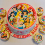 Simple Disney Princess theme Cake and Cup cakes by 4S Cakes Bromley Greenwich cup cake makers