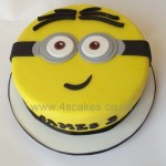 Simple minion face Birthday cake made by 4S Cakes Bromley Beckenham Wedding cake makers