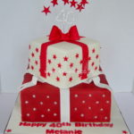 two tier Birthday cake by dulwich caker maker
