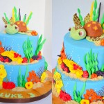 Nemo and Friends theme cake made by 4s Cakes Bromley Croydon wedding cake makers