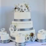 Wedding cake made by 4S Cakes Bromley Croydon Based Cake Makers and Cake Shop
