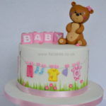 Baby shower cake for girl by 4S cakes east Dulwich and Greenwich cake makers