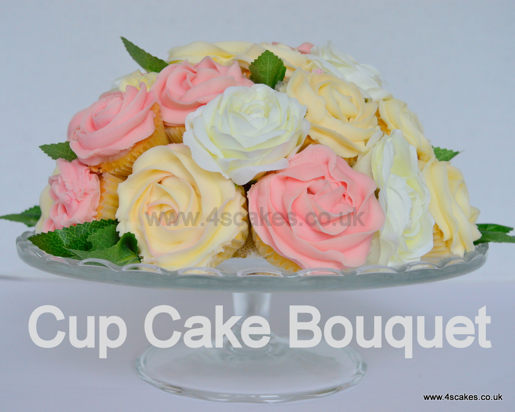 Cup Cake bouquet by 4S Cakes, Bromley Greenwich Cake makers