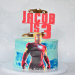 Iron man cake by bromley cake makers