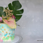 Tropical theme wedding cake Bromley London cake makers