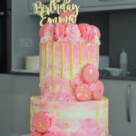 Two tier buttercream cake bromley london cake shop