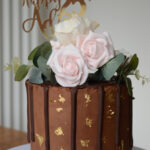 Chocolate floral cake by cake shop bromley london