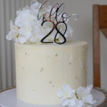 White buttercream cake by bromley bakery London