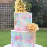two tier buttrcream cake wedding cakes london